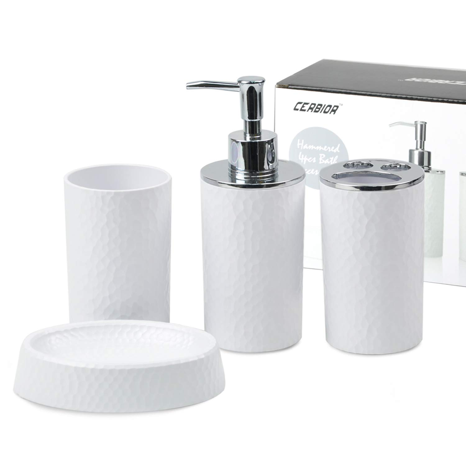 Amazoncom Cerbior Bathroom Accessories Set 4 Piece Bath Ensemble