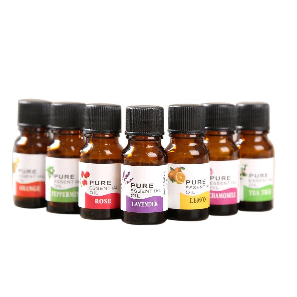 Jinjin 6 Flavor 10ML/Box Essential Oils 100% Natural Aromatherapy Oils Choose Fragrance Aroma Flower,(Lemon, chamomile, orange, mint, rose, lavender) (A)