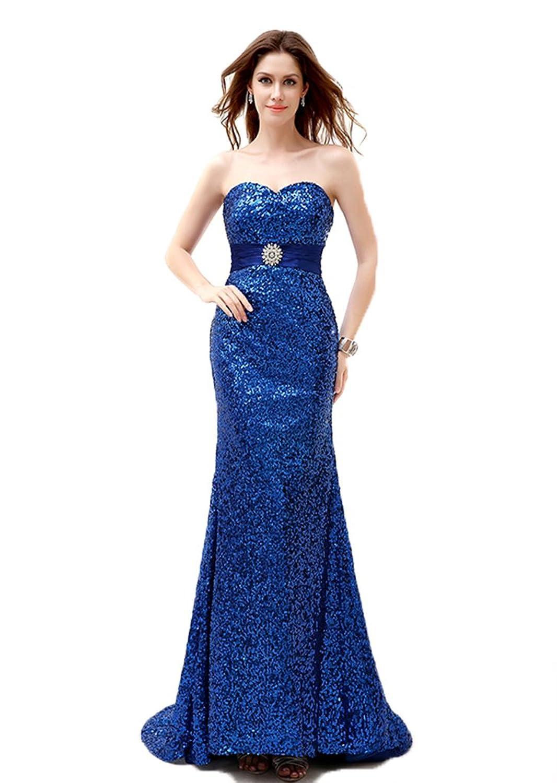 Fanciest Women's 2016 Sequin Prom Dresses Mermaid Evening Gowns