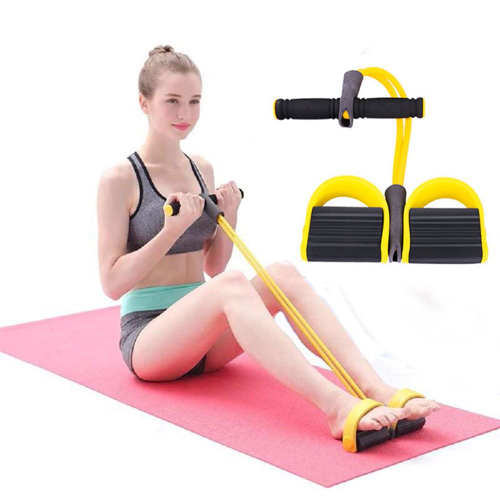 Grofitness el/ástica Pull Exerciser Resistente Goma Pie Push Up Body Building Belly Gut Buster Crossfit Equipo