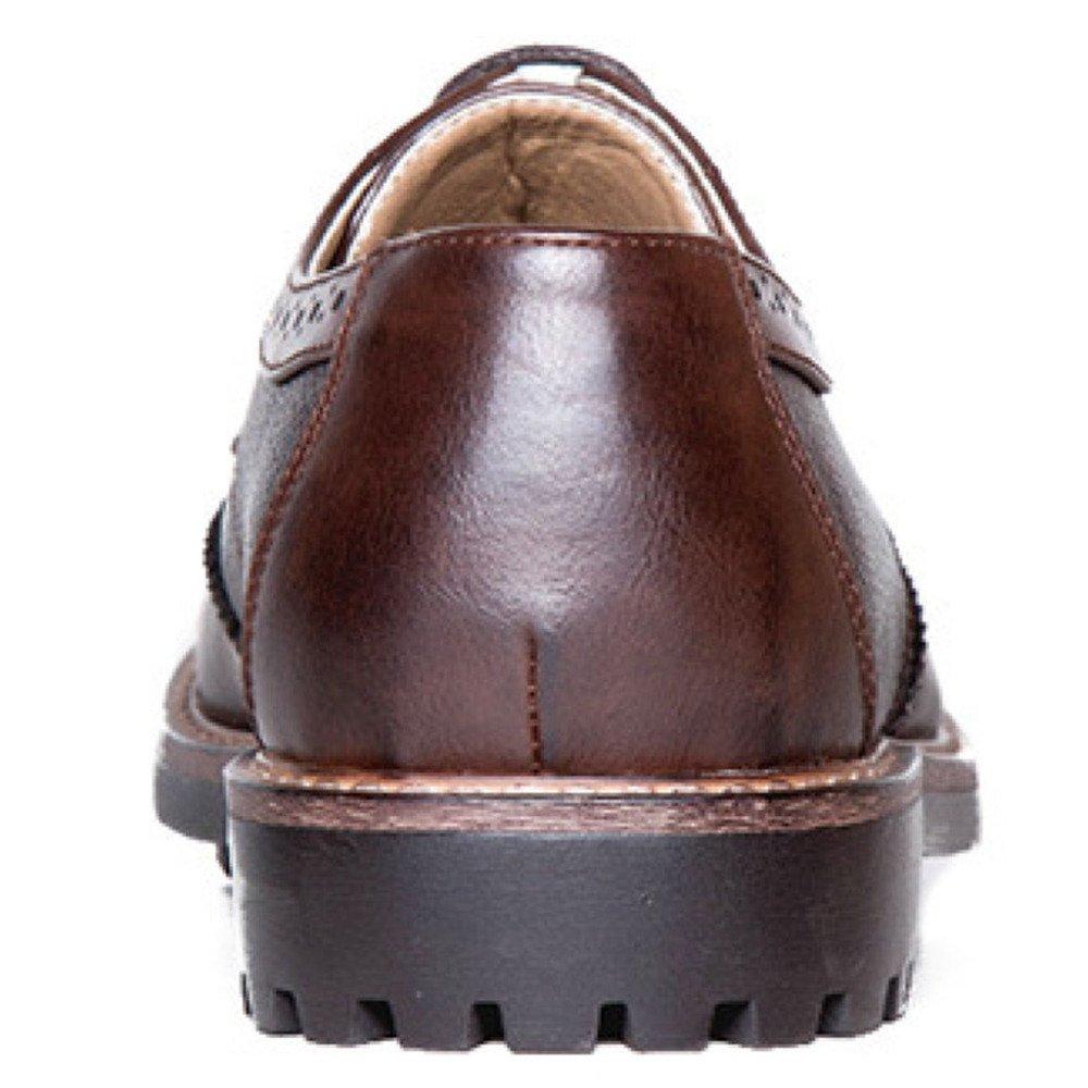 Formeller Mann-klassischer Schuh-handgemachte Männer Kopf-Leder-Schuhe Bullock-Geschäfts-Braun-Art- Und WeiseLace-up Runder Kopf-Leder-Schuhe Männer Braun 2f90d4
