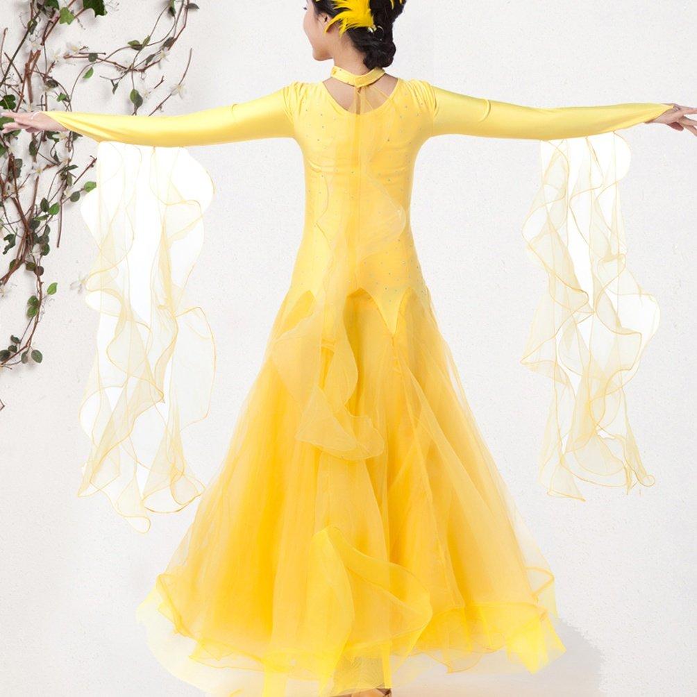 Walzer Tanz-Outfit Für Frauen Wettbewerb Tanzbekleidung Lange Lange Lange Ärmel Modern Balli da Sala Tanz Kostüme B07BZKY5DY Bekleidung Verrückter Preis 6c49bb
