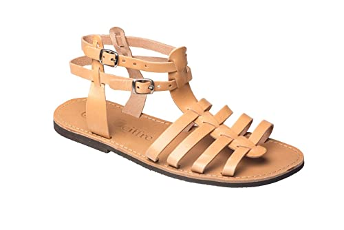 540ee40073fe2 Ciffre Womens and Mens Handmade Premium Genuine Leather Strappy Sandal  Greece EU 36-47 and UK 3.5 to 12