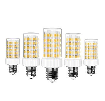 RANBOO E14 Bombilla LED 10W incandescente Equivalente a 80W 800lm Blanco Cálido 3000K AC220-240V No Regulable Lot de 5: Amazon.es: Bricolaje y herramientas