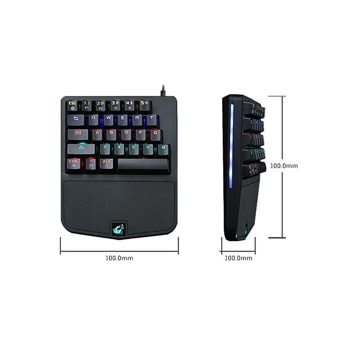 Momola 28 Tasten Gaming Mechanische Tastatur Gameboard Verdrahtete ...