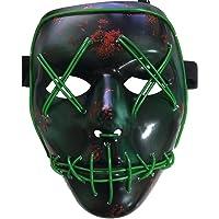 Halloween LED Máscaras,Mascaras de Halloween,Craneo Esqueleto Mascaras,Para la Navidad Halloween Cosplay Grimace Festival Party Show, Batería motorizado(no incluido)