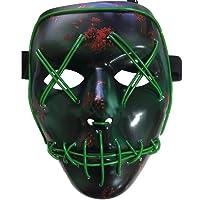 Halloween la maschere,LED Illumina la maschere,Per Halloween Cosplay feste del partito Halloween Costumi,Batteria alimentata(non inclusa)