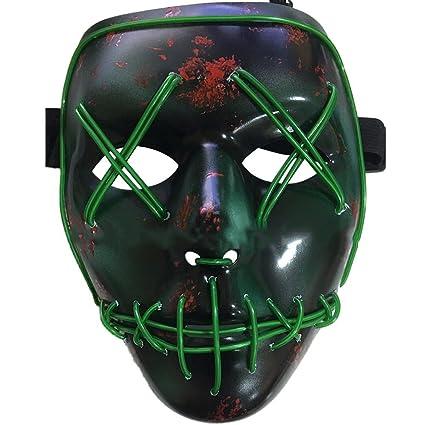Halloween Maschere.Halloween La Maschere Led Illumina La Maschere Per Halloween Cosplay Feste Del Partito Halloween Costumi Batteria Alimentata Non Inclusa