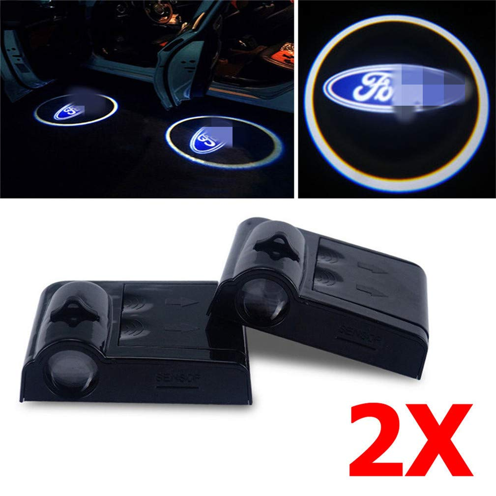 Xiao tianlong 2X Car Door Projector LED Light Shadows Lamp Wireless Courtesy for F ord