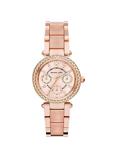 Michael Kors Reloj Analógico para Mujer de Cuarzo con Correa en Acero Inoxidable MK6110: Amazon.es: Relojes