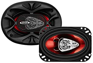 BOSS Audio CH4630 Car Speakers - 250 Watts of Power Per Pair and 125 Watts Each, 4 x 6 Inch, Full Range, 3 Way, Sold in Pairs, Easy Mounting