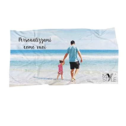 41c02ebfcc My Custom Style Telo mare personalizzabile FULL PRINT, in cotone 180x100cm:  Amazon.it: Casa e cucina