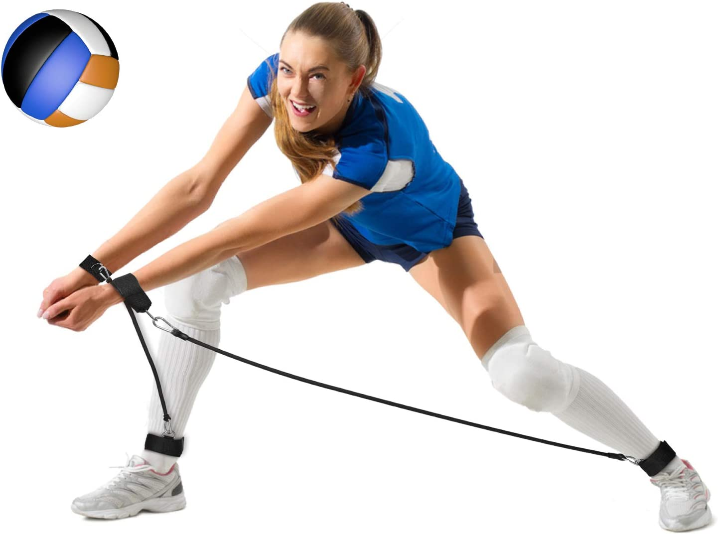 BFVV Volleyball Training Equipment Passing Aid Resistance Band for Practicing Serving, Arm Swing Passing, Agility Training (Black) : Sports & Outdoors