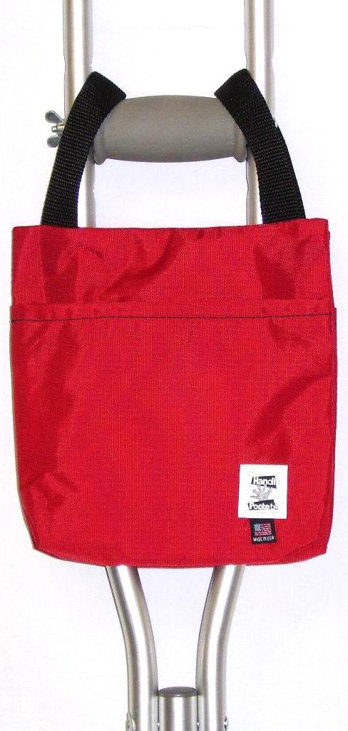 Handi Pockets 1a4rd Storage Accessory Crutch, Nylon, Red