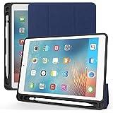 ULTRAMARINE iPad Mini 5 Case 2019 with Pencil Holder,Premium Trifold Lightweight Ultra Slim Soft TPU Back Cover with Auto Sleep/Wake Smart Case for Apple iPad Mini 5th Generation (Blue)
