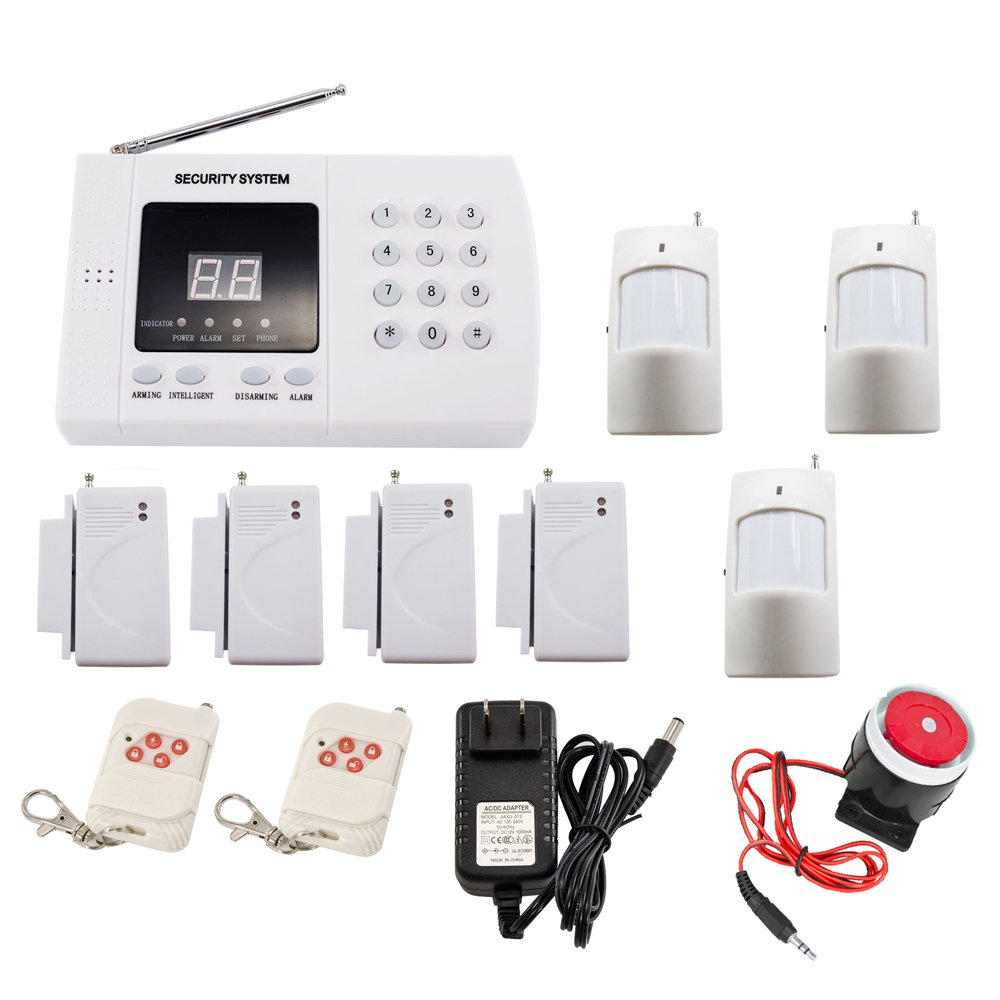iMeshbean Wireless PSTN PIR Home Security Burglar Alarm System Auto Dialing K30 99 Zones USA