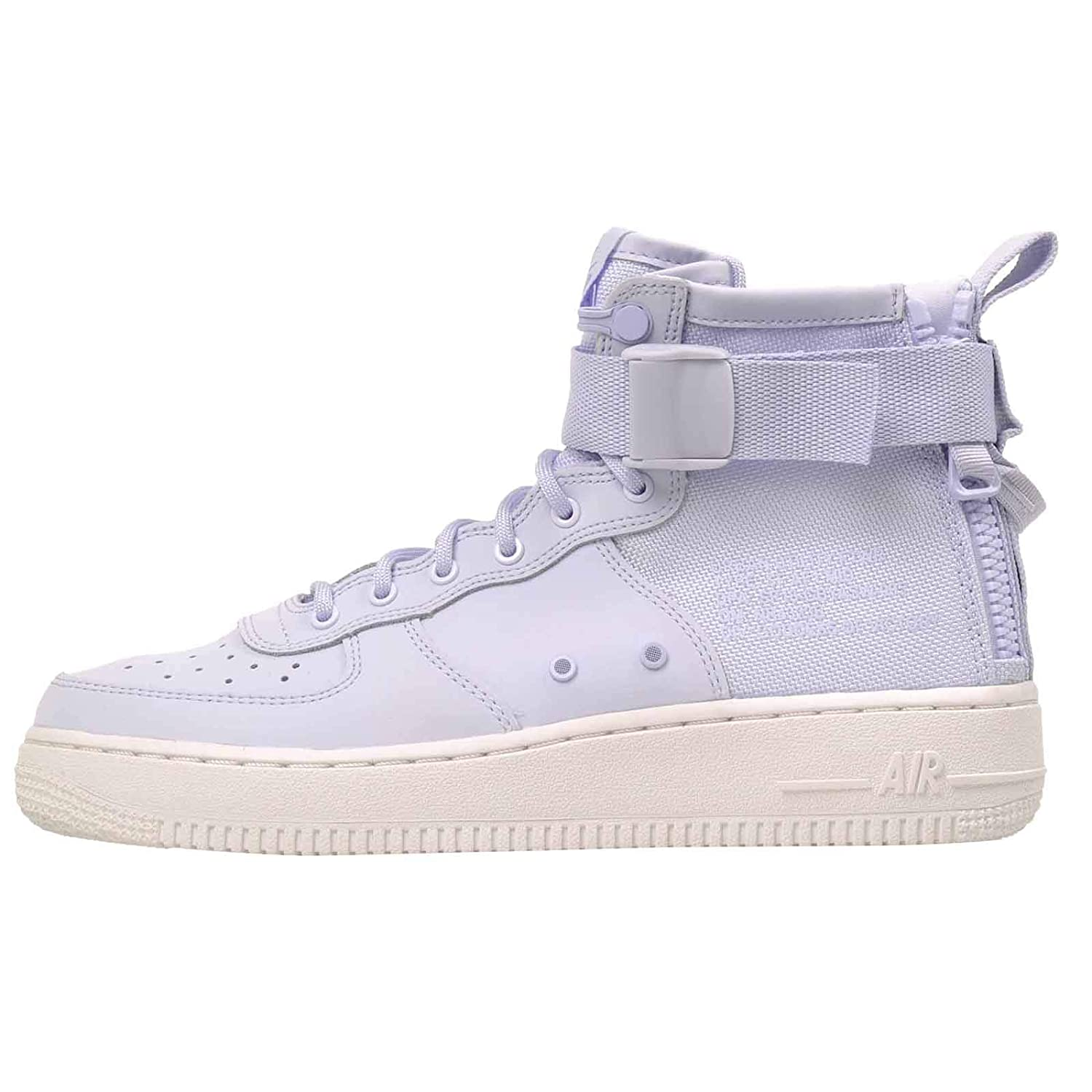 new concept 738a0 4a444 Amazon.com | NIKE Kid's SF AF 1 Mid (GS) HK, Palest Purple ...