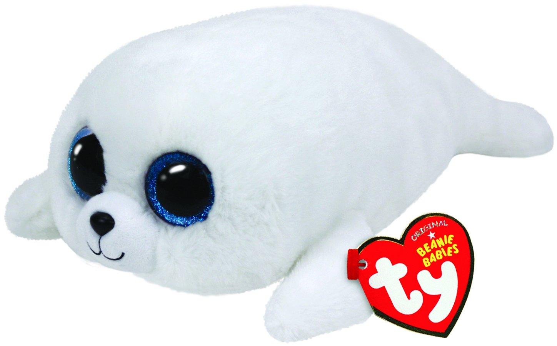 Ty - Foca de Peluche, 23 cm, Color Blanco (37046TY): Amazon.es: Juguetes y juegos