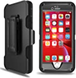 """PTUNA iPhone 6s Case, iPhone 6 Defender Case with Belt Clip, Kickstand, Holster, Heavy Duty, Built-in Screen Protector Rugged Rubber Case Compatible with iPhone 6s/6s(4.7""""), Black"""