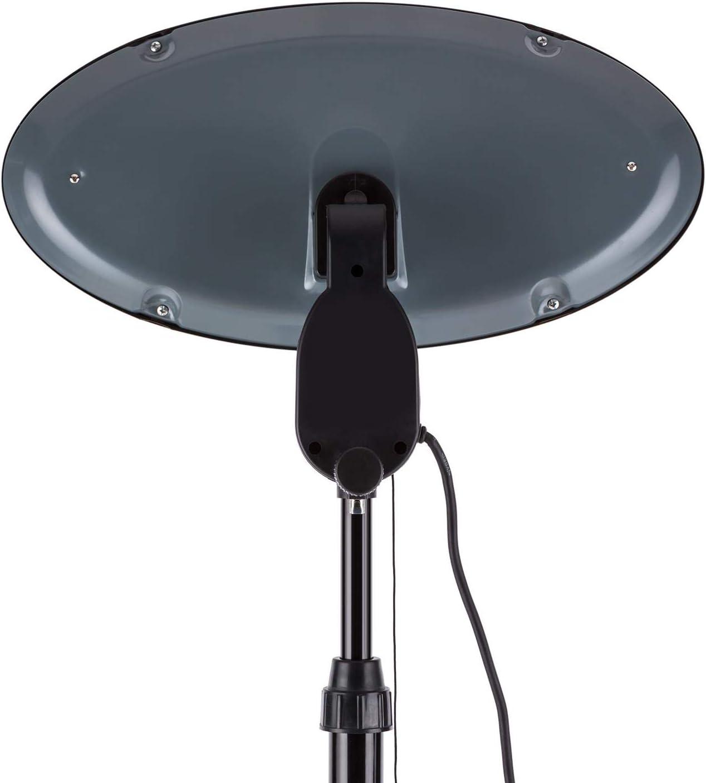 Blumfeldt Shiny Hot Roddy Estufa de terraza - Calefactor de pie Infrarrojo, Radiador de Calor para Patio, 2000 W MAX, 3 Tubos calefactores en Cuarzo, 3 Niveles, hasta 15 m2, Negro: Amazon.es: Hogar
