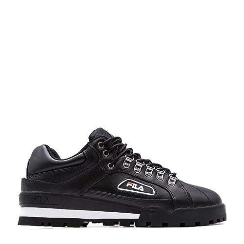 Fila Hombre 101048725Y Negro Cuero Zapatillas: Amazon.es: Zapatos y complementos