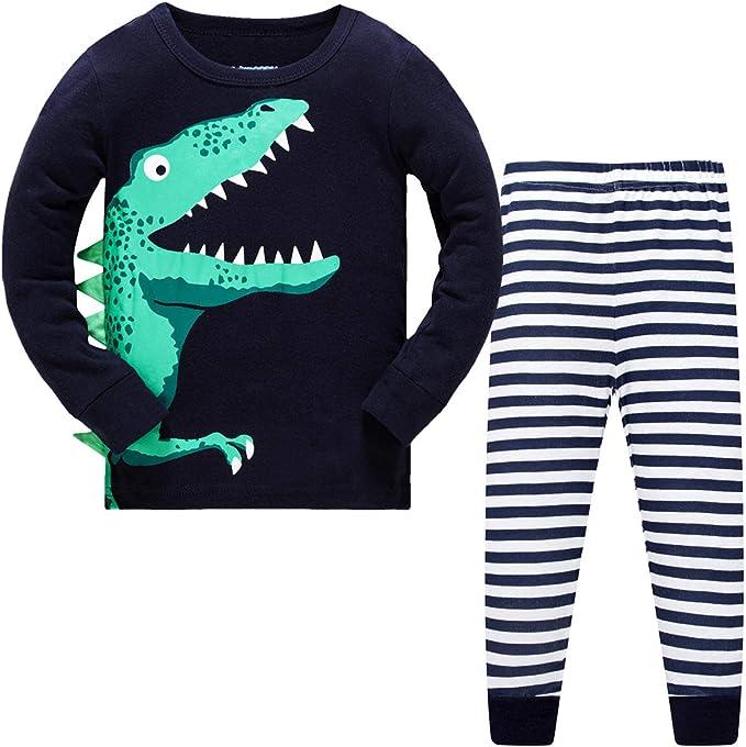 Papoopy Boys Dinosaur Pajama Set 2-8 Years