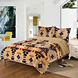 Southwest Design (Navajo Print) Queen Size 3pcs Set 16112 Camel