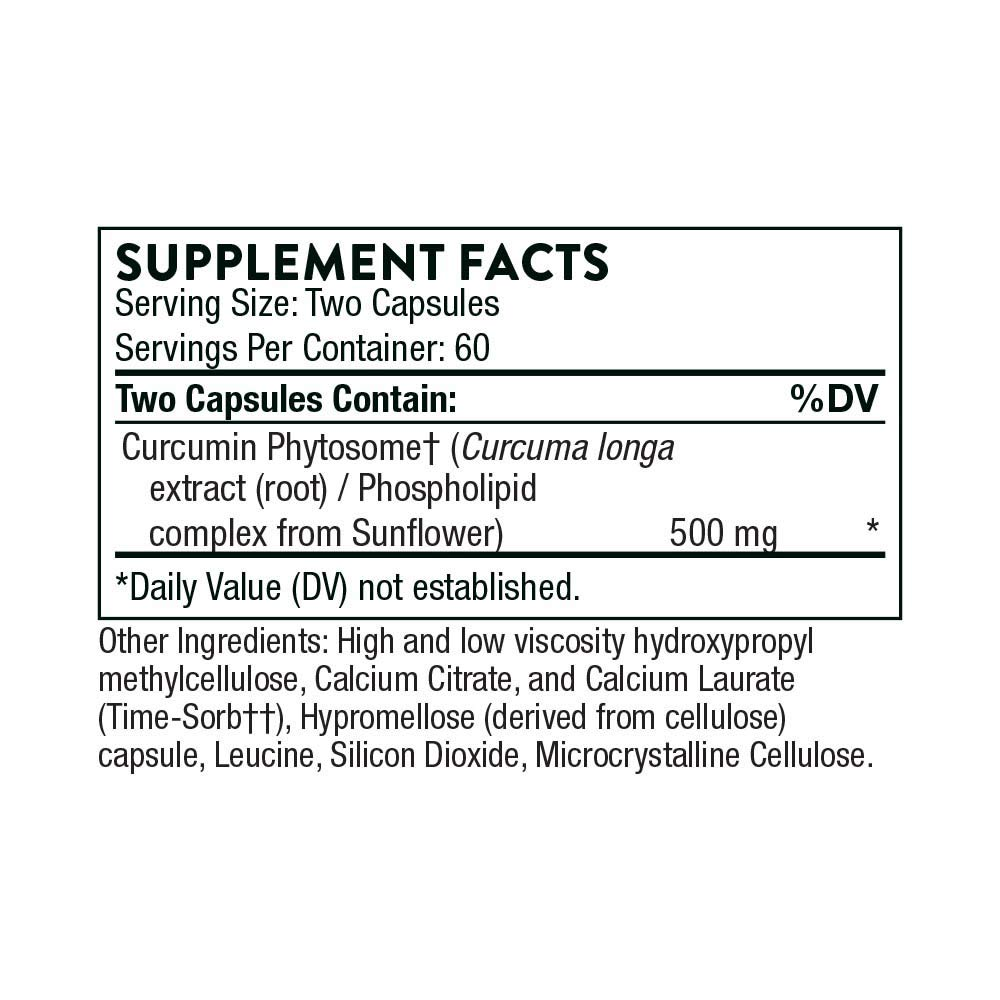 Thorne Research - Meriva SF (Soy Free) - Sustained Released Curcumin Phytosome Supplement - 120 Capsules: Amazon.es: Salud y cuidado personal