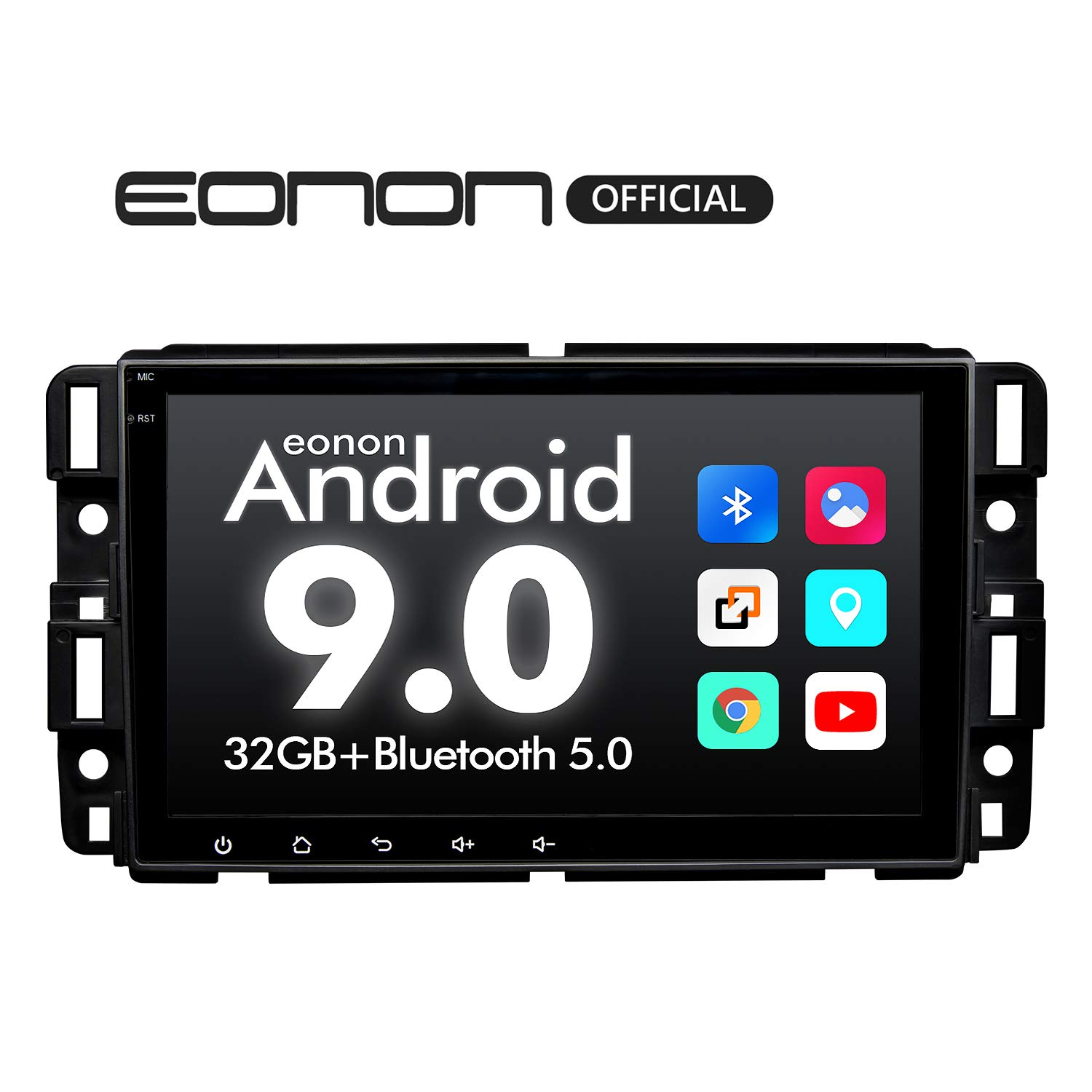 Car Stereo, Double Din Car Stereo, Eonon Car Stereo with Bluetooth 8 Inch Car Radio GPS Navigation for Car Support Android Auto/Apple Carplay/Bluetooth 5.0/Fast Boot/DVR/Backup Camera/OBDII-GA9380 by Eonon