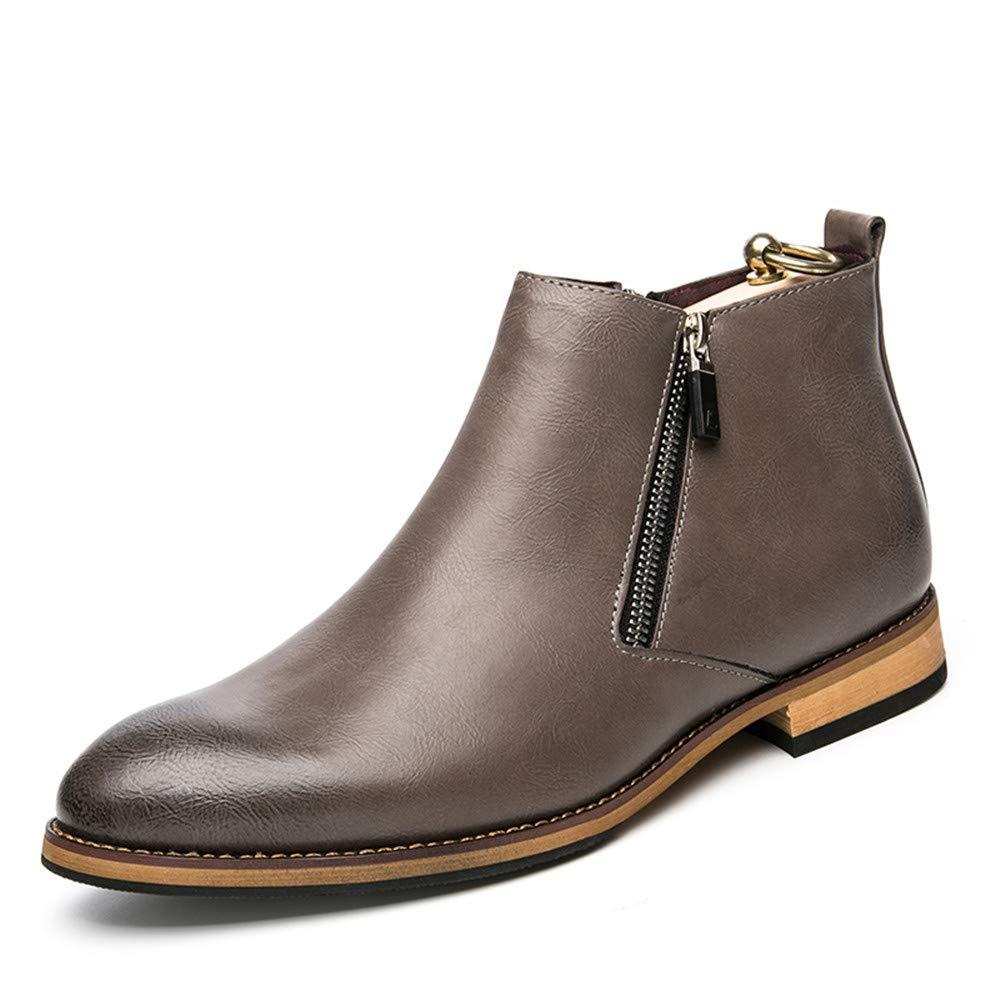 Jiuyue schuhe, Sommer 2018 Herren Stiefeletten Freizeit Klassische High Top Mode Britischen Stil Walking Boot (Farbe : Grau, Größe : 42 EU) Grau