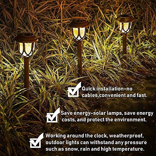 Solar Pathway Lights,10 Pack Solar Garden Lights Outdoor, Waterproof Solar Powered Garden Lights Landscape/Pathway Lights Solar Path Lights Outdoor Plastic & Glass for Landscape Patio Yard