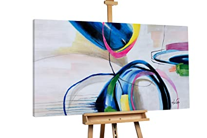Kunstloft Extravagante Cuadro al Óleo \'Zarte Annäherung\' 160x80cm ...