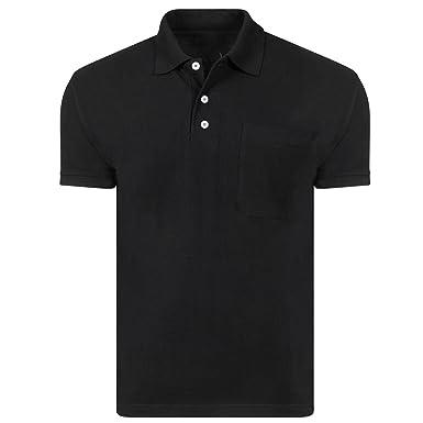 Mens Polo Shirt Top Short Sleeve Pique Plain T-Shirt Classic Casual Tee Shirts