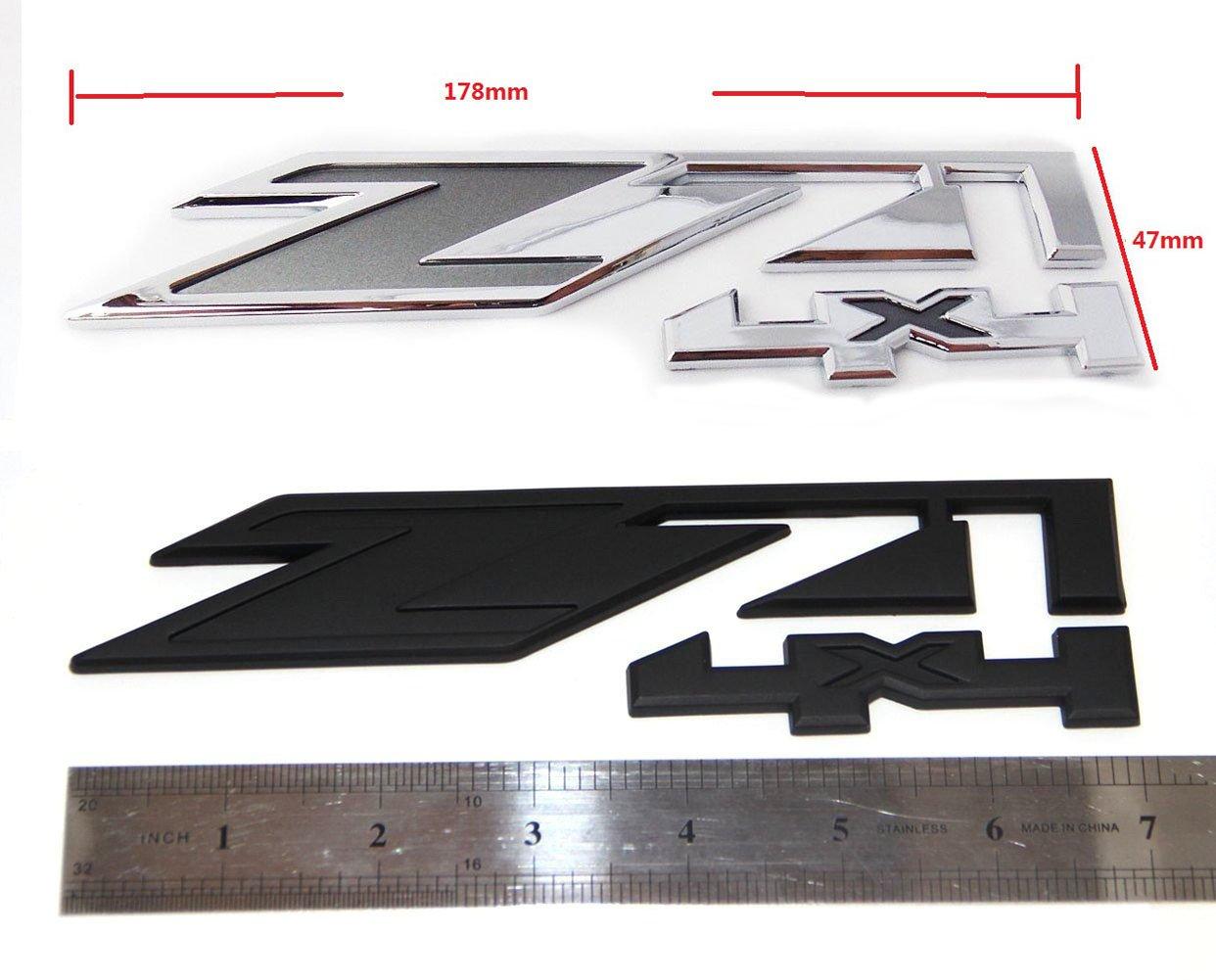 Yoaoo-oem/®2pcs for GMC Chevy Silverado Sierra Tahoe Suburban Z71 4x4 Emblems OEM NEW 1500 2500 3500 Decal