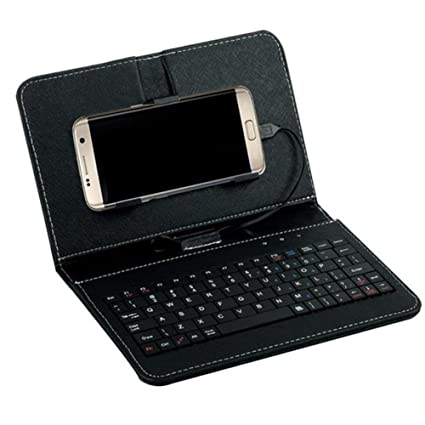 Amazon.com: Universal Wired Keyboard Flip Carcasa Para ...