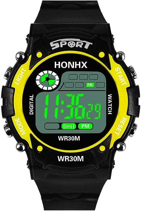 Analógico-Digital para Regalo, YpingLonk Impermeable al Aire Libre Reloj de Pulsera Militar Deporte LED Unisex Electrónico Relojes de Pulsera