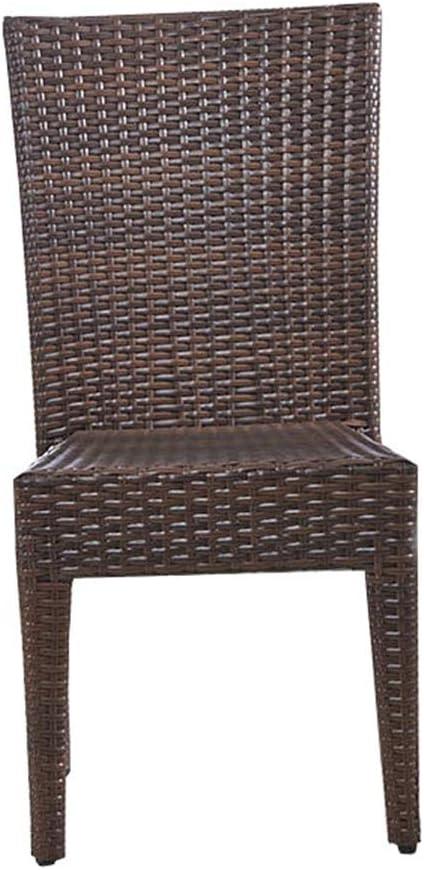 QQXX Muebles de jardín de ratán Silla de Mimbre de Invernadero para jardín, Mesa de Mimbre para Hotel/café/PE al Aire Libre Muebles para el hogar (tamaño: 46x55x92cm): Amazon.es: Hogar
