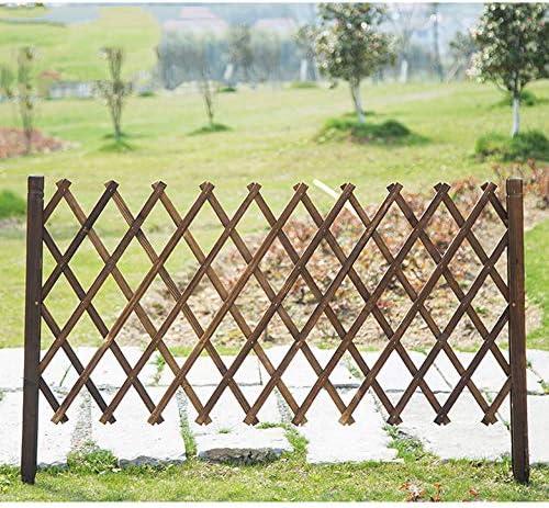 DSJGVN 拡張格子フェンス、ガーデンスクリーンプライバシーフェンス、木製パネルフェンシングボーダー、芝生の花壇ボーダーエッジ