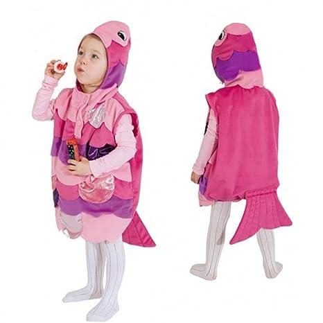 Disfraz de Niño Rosa Tamaño de Pez 104 Niños Niñas Niños ...