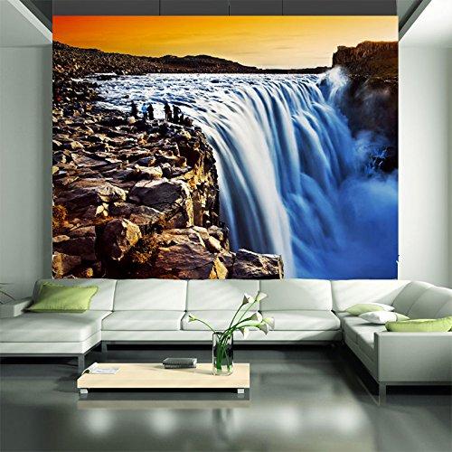3D Rock waterfall outdoor landscape living room hotel TV sofa background wall bedroom study wallpaper mural 3D Murals ()