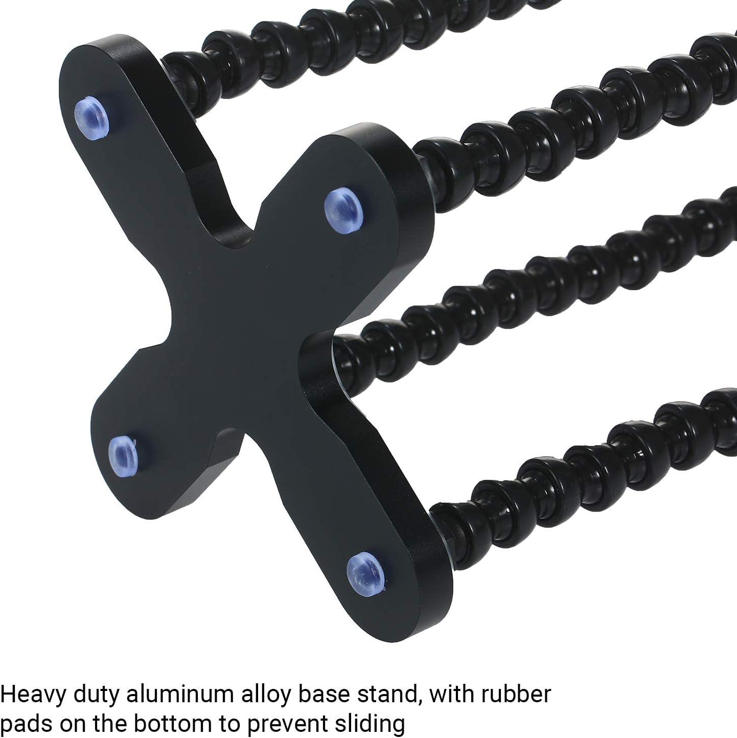 KKmoon Soldering Station Welding Repair Third Hand Multifunctional Welding Tool PCB Holder Flexible 4 Arm Alloy Stand