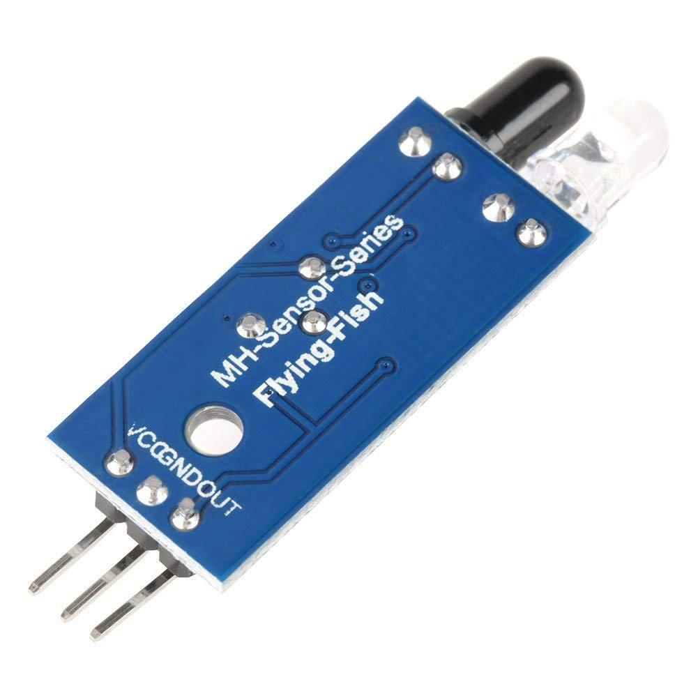 Electrely 10Pcs IR Módulo de Sensor de Evitación de Obstáculos Infrarrojos para Arduino Robot de Coche Inteligente, Módulo de Tubo Infrarrojo, ...