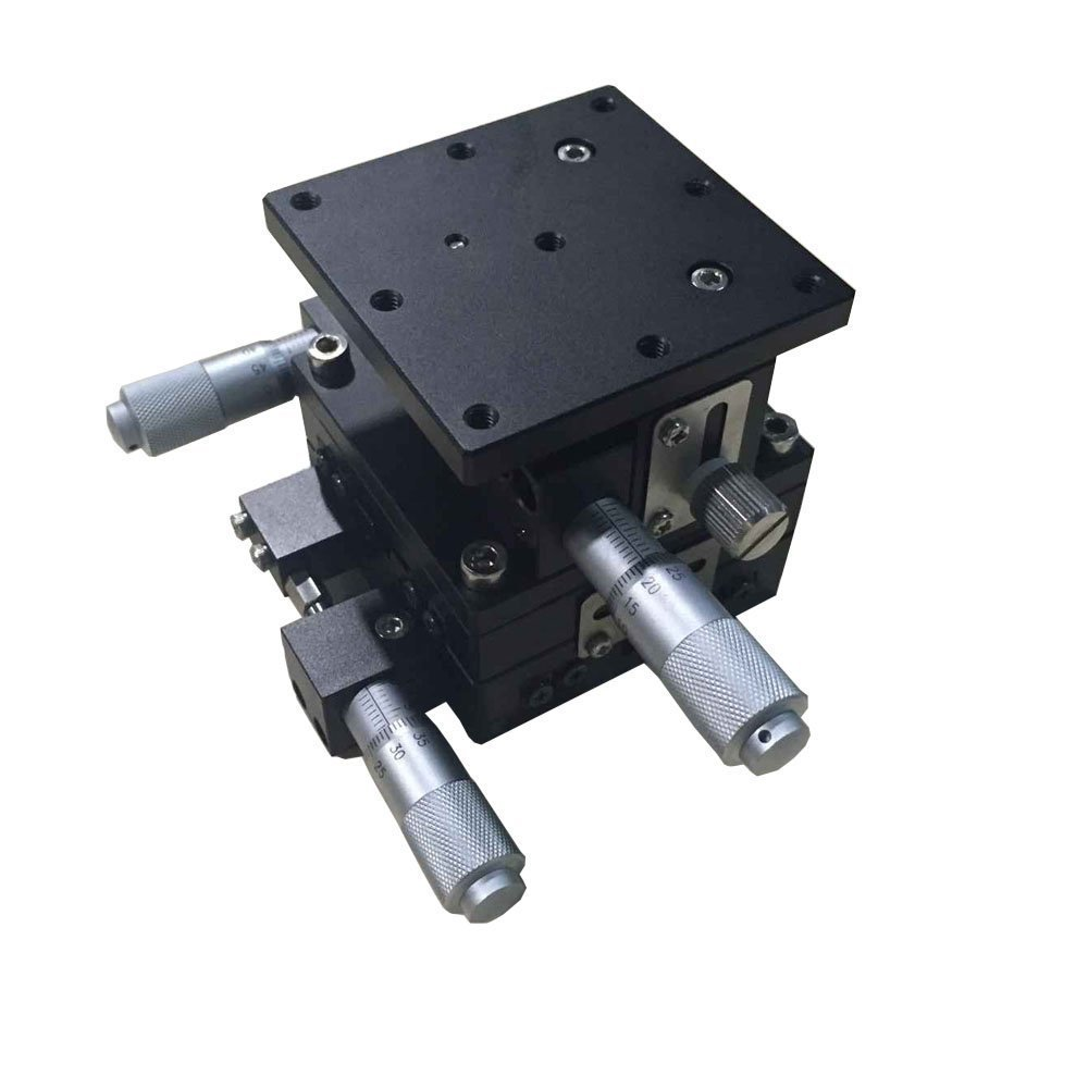 XYZR Axis Linear Stage Trimming Platform Manual Displacement Bearing Tune Table