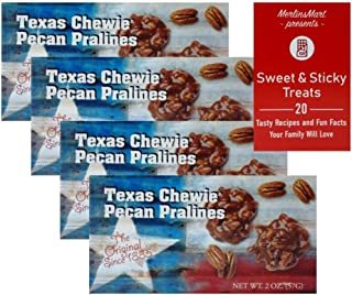 product image for Lammes Candies Gourmet Caramel Pecan Pralines Gift Box | Buttery Texas Pralines Caramel Candy Clusters | Texas Flag Souvenir (4 Pack - 2 ounces each) Plus Recipe Booklet Bundle