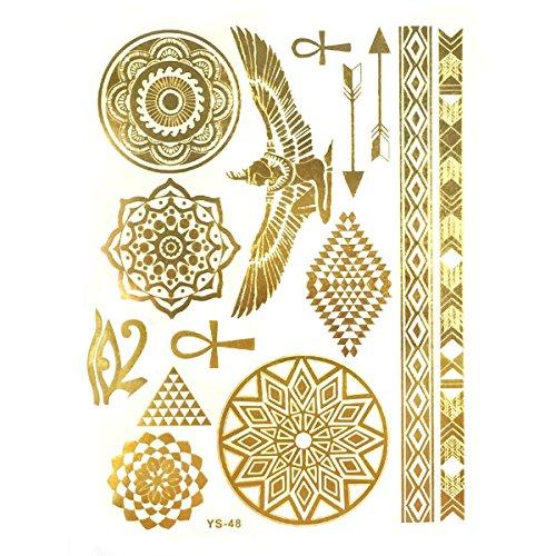 Allydrew Metallic Temporary Tattoos Hieroglyphs 1 product image