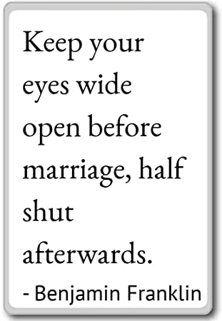 Amazoncom Keep Your Eyes Wide Open Before Marriage Benjamin