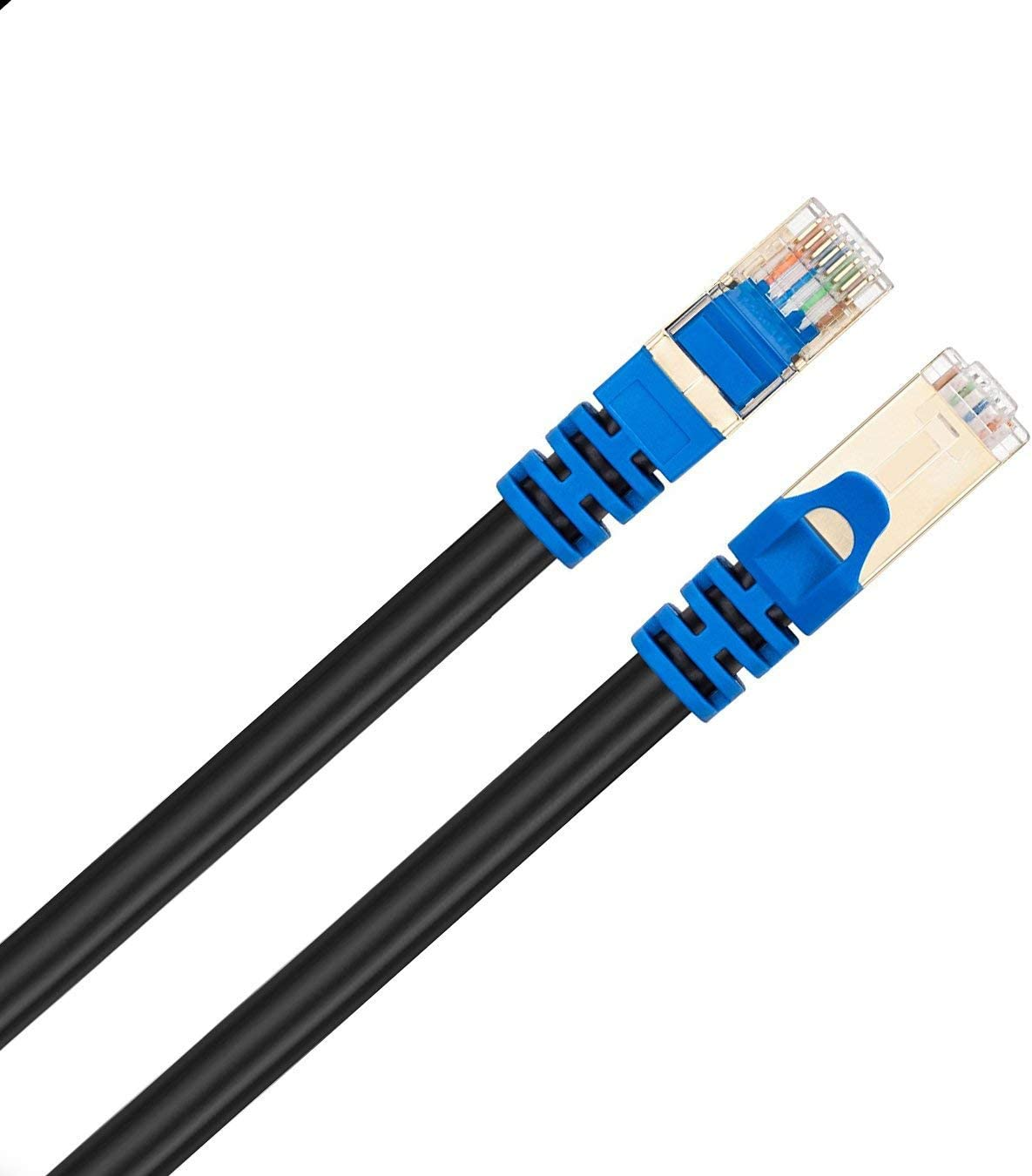 Router PS2 PS3 Laptop PC Xbox 360 Blue PS4 Outdoor Cat 7 Ethernet Cable 15Ft Mac Tanbin Cat7 RJ45 Network Patch Cable Heavy-Duty 10 Gigabit 600Mhz LAN Wire Cable Cord for Modem