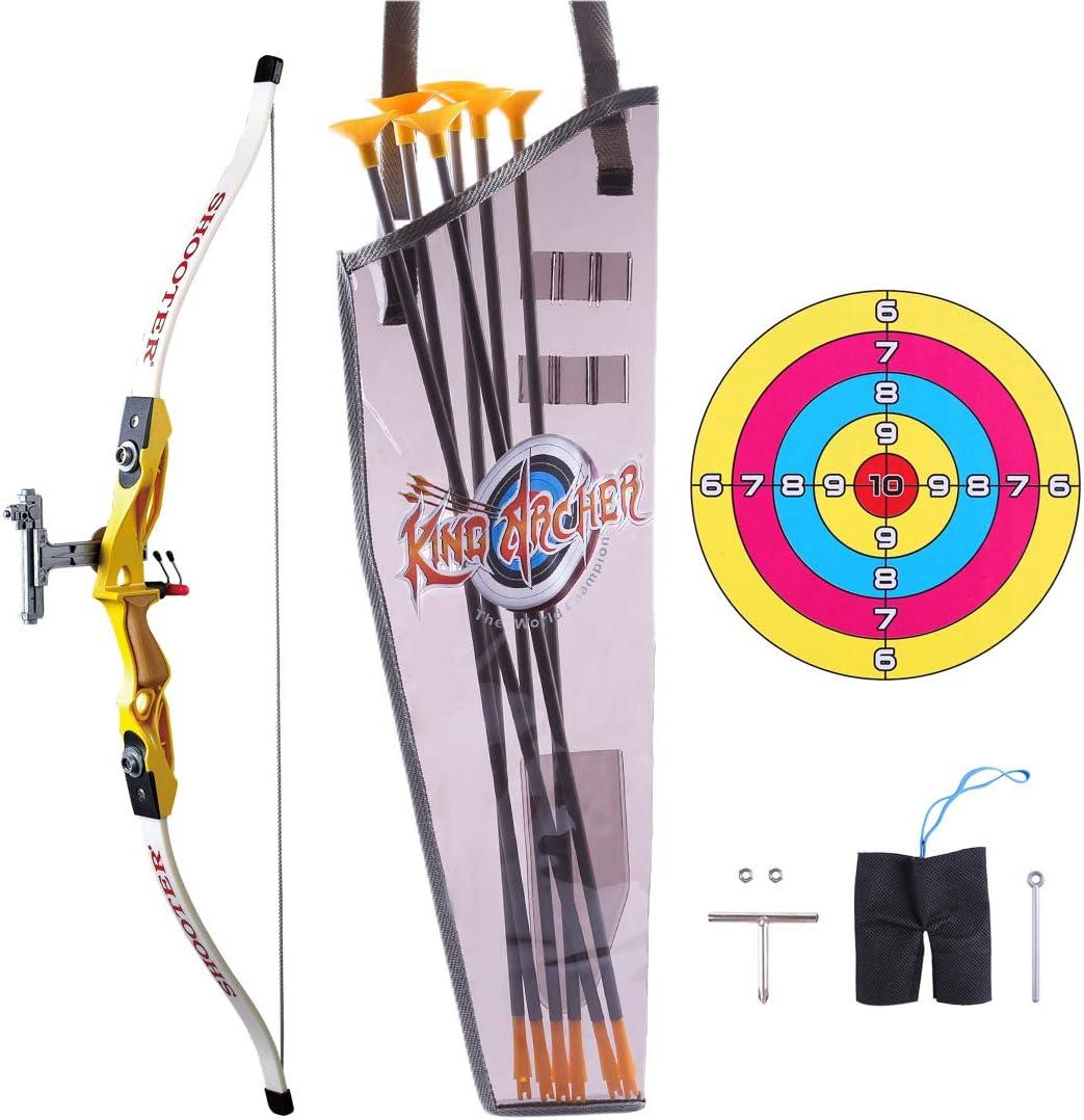 Polai Arco y Flechas para Ni/ños Tiro con Arco Juguete