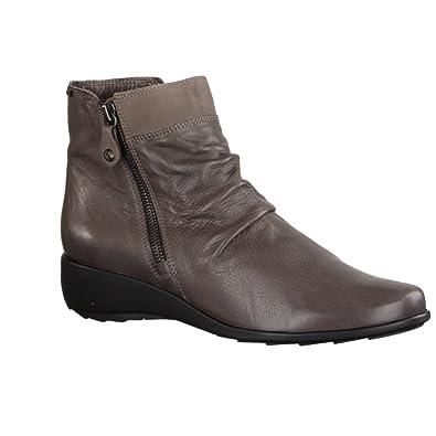 Mephisto - Botas de Piel para mujer gris gris: Amazon.es: Zapatos y complementos