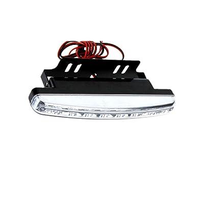 Meily 8LED Daytime Driving Running Light DRL Car Fog Lamp Waterproof White DC 12V